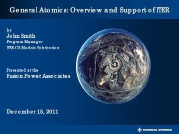 General Atomics: Overview and Support of ITER