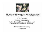 Nuclear Energy's Renaissance