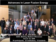 Advances in Laser Fusion Energy
