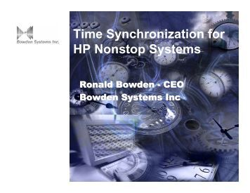 Time Synchronization for HP Nonstop Systems