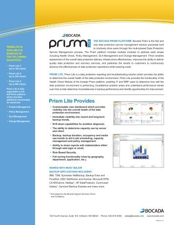 Prism lite Provides - Application Transformation Solutions - HP