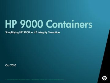 HP 9000 Containers Overview