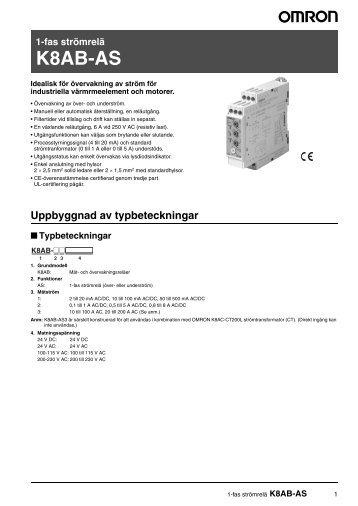 K8AB-AS Datablad