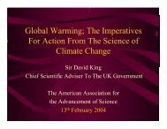 Global Warming; The Imperatives For Action From The Science of ...