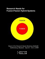 Research Needs for Fusion-Fission Hybrid Systems