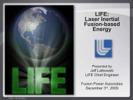 LIFE: Laser Inertial Fusion-based Energy