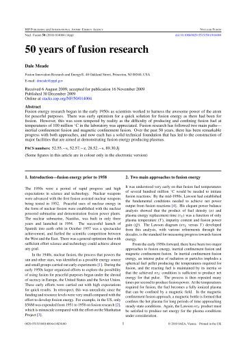 Research papers on plasma physics