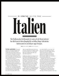 När Italiensolen fortfarande är varm och de flesta turister har ... - Enit