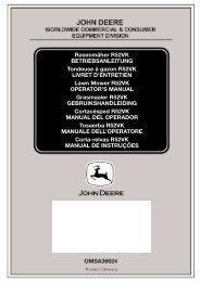 Aufb R52VK - Operator's Manual - John Deere