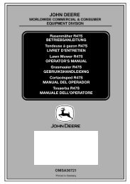 Inhalt R47S - Operator's Manual - John Deere