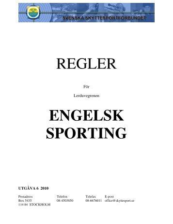 REGLER ENGELSK SPORTING
