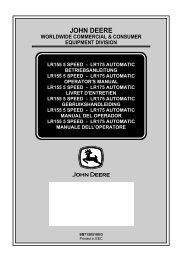 dB - Operator's Manual - John Deere