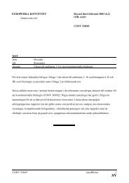Utkast till artiklarna 1 - 16 i det konstitutionella fördraget - Europa