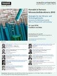 Horváth & Partners Wissenschaftskonferenz 2010 Strategien für den - Seite 2