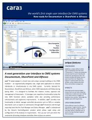 the world's first single user interface for CMIS systems A next ...