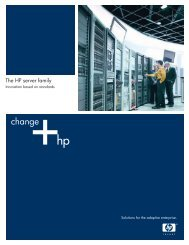 The HP server family - Application Transformation - HP