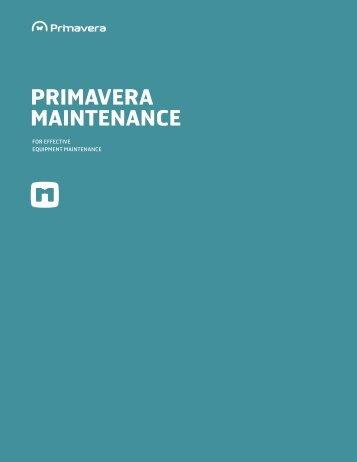 PRIMAVERA MAINTENANCE - Application Transformation Solutions