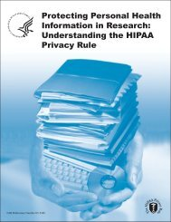 Understanding the HIPAA Privacy Rule - Medical and Public Health ...