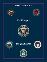 JP 3-28, Civil Support - Federation of American Scientists