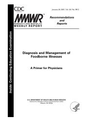 Diagnosis and Management of Foodborne Illnesses - Centers for ...