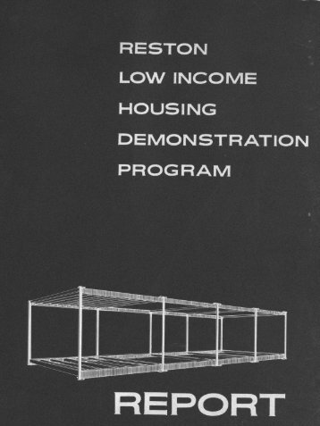 RESTON LOW INCOME HOUSING DEMONSTRATION PROGRAM