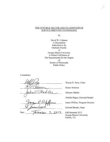 Sample B: Approval/Signature Sheet] - George Mason University