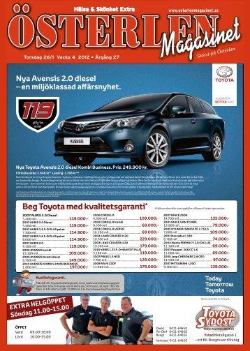 Beg Toyota med kvalitetsgaranti* - IQ Pager