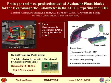 Prototype and mass production tests of Avalanche Photo Diodes for ...