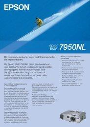 De Epson EMP-7950NL biedt een helderheid van 4000 ANSI lumen ...