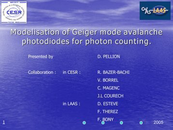 APD photodetectors in the Geiger photon counter mode