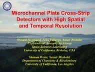 Microchannel Plate Detectors - NDIP 11