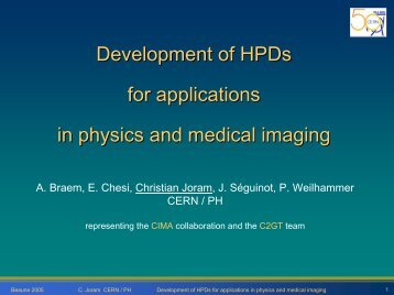 Development of HPDs for applications in physics and ... - NDIP 11