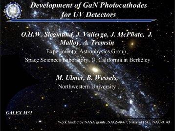 Development of GaN photocathodes for UV detectors - NDIP 11