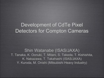 Development of CdTe Pixel Detectors for Compton Cameras - NDIP 11