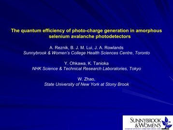 The quantum efficiency of photo-charge generation in a-Se - NDIP 11