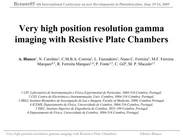 Very high position resolution gamma imaging with ... - NDIP 11