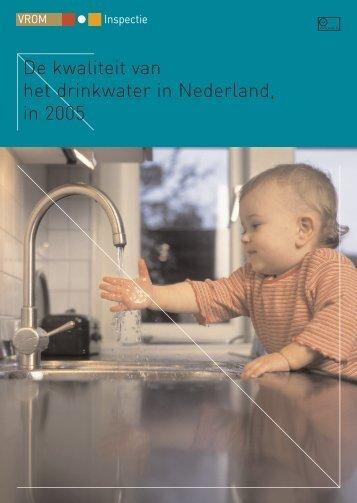 De kwaliteit van het drinkwater in Nederland, in 2005