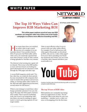 The Top 10 Ways Video Can Improve B2B Marketing ROI