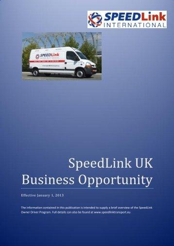 SpeedLink UK Business Opportunity