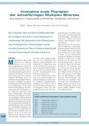 Innovative orale Therapien der schubförmigen Multiplen Sklerose