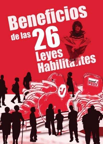 Beneficios de las 26 leyes - Juventud PSUV