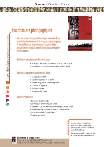 Fiches ateliers (pdf - 1,18 Mo) - Historial de la Grande Guerre