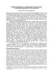 Politieke participatie en zelforganisatie van allochtonen ... - Skynet.be