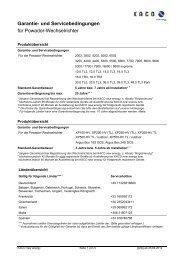 Garantie- und Servicebedingungen für Powador ... - Krannich Solar