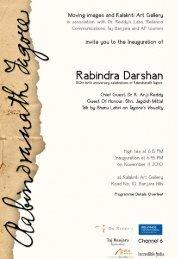 Page 1 inviti; gnu in thi; [nauguralicin nf Rabindra Darshan at ...