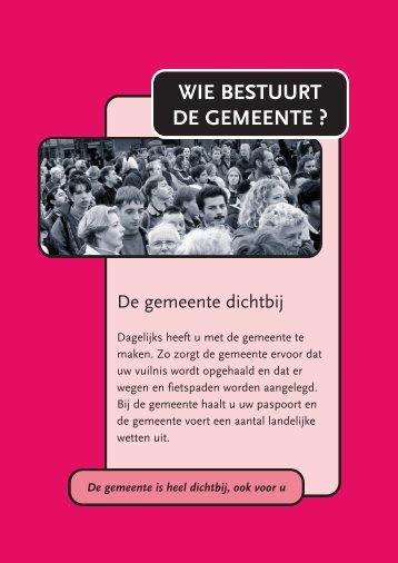 WIE BESTUURT DE GEMEENTE ? - Gemeente Dordrecht
