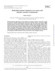Methicillin-resistant Staphylococcus aureus and animals - Journal of ...