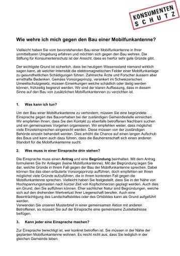 Anleitung - Stiftung für Konsumentenschutz