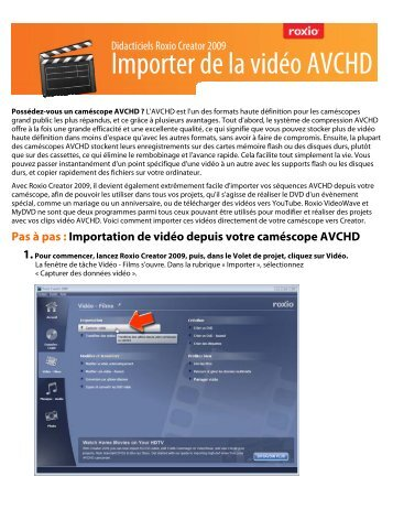 Importer de la vidéo AVCHD - Roxio