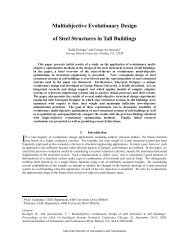Multiobjective evolutionary design of steel structures in tall buildings